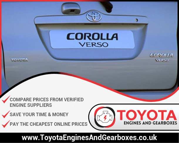 Buy Toyota Corolla Verso Diesel Engines